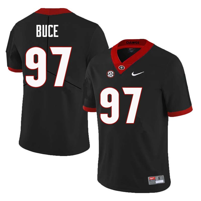 Men Georgia Bulldogs #97 Brooks Buce College Football Jerseys Sale-Black